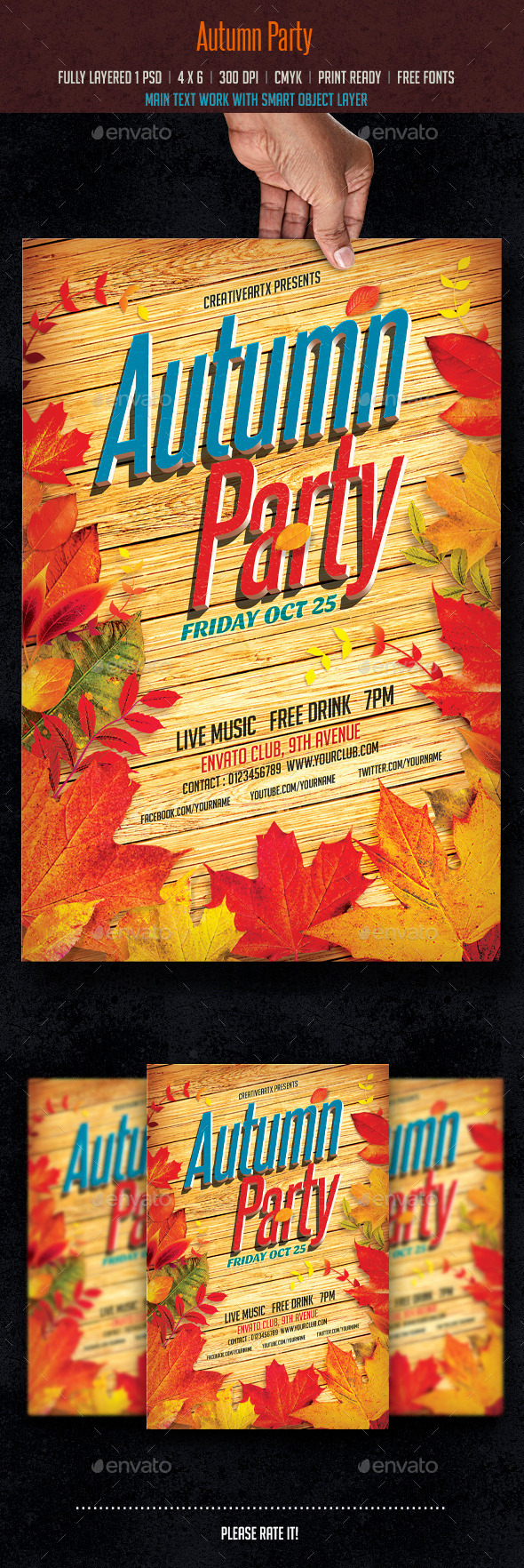 GraphicRiver Autumn Party 8918242