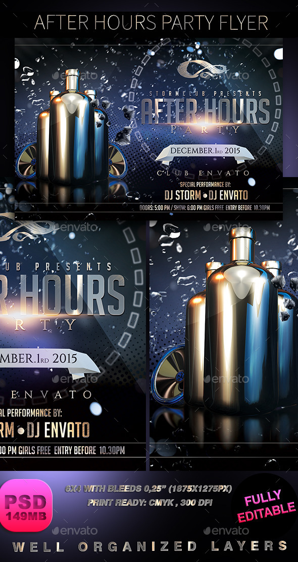 GraphicRiver After Hours Party Flyer 8918262