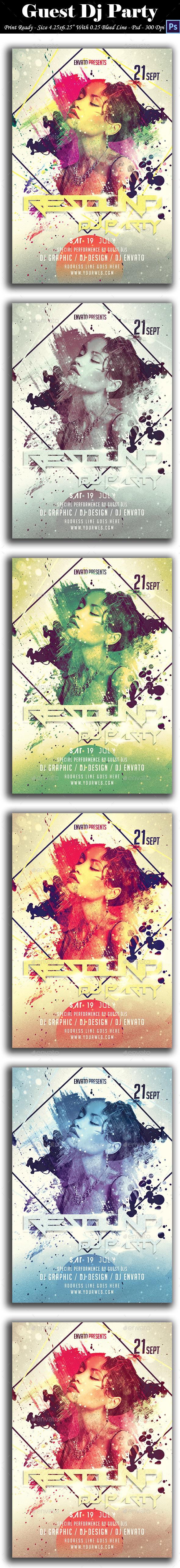 GraphicRiver Guest Dj Party Flyer 8902232