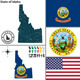 Map of State Idaho, USA - GraphicRiver Item for Sale