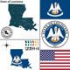 Map of State Louisiana, USA - GraphicRiver Item for Sale
