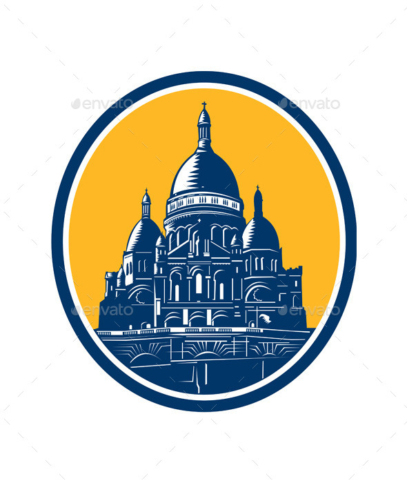 GraphicRiver Dome of Sacre Coeur Basilica Paris 8918329