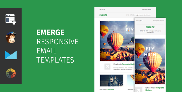 ThemeForest Emerge responsive email template with editor 8816711