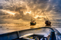 Fishing sea boat and Sunrise - PhotoDune Item for Sale