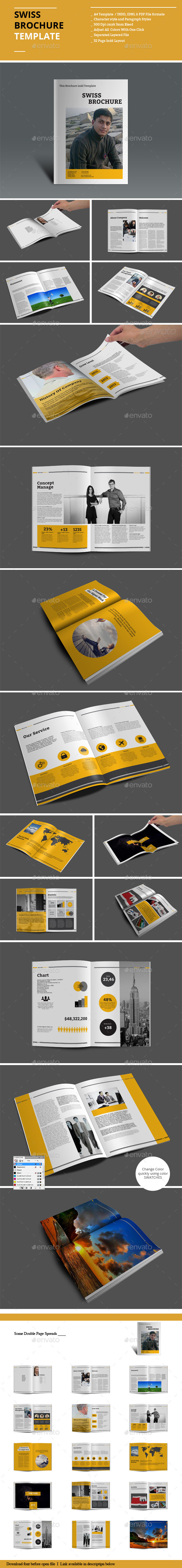 GraphicRiver Swiss Brochure Templates 8918687