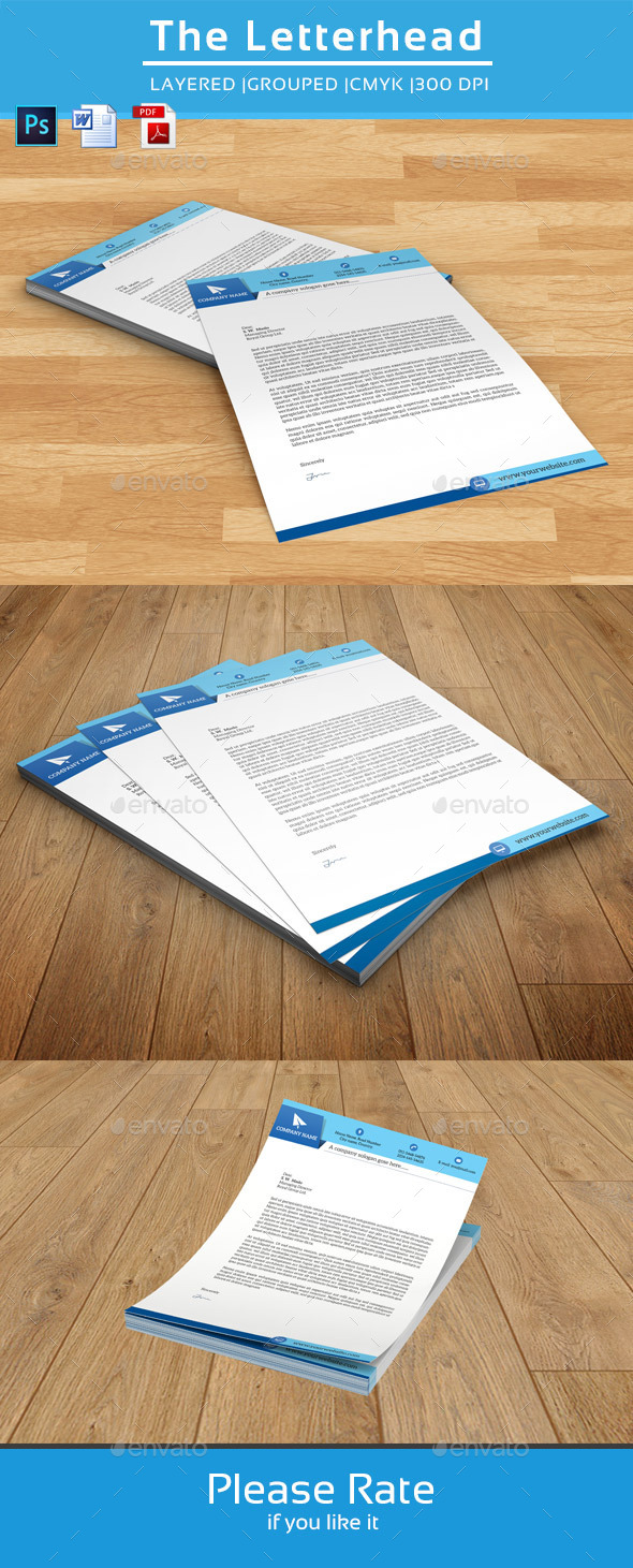 GraphicRiver Clean Letterhead Template-V01 8918690