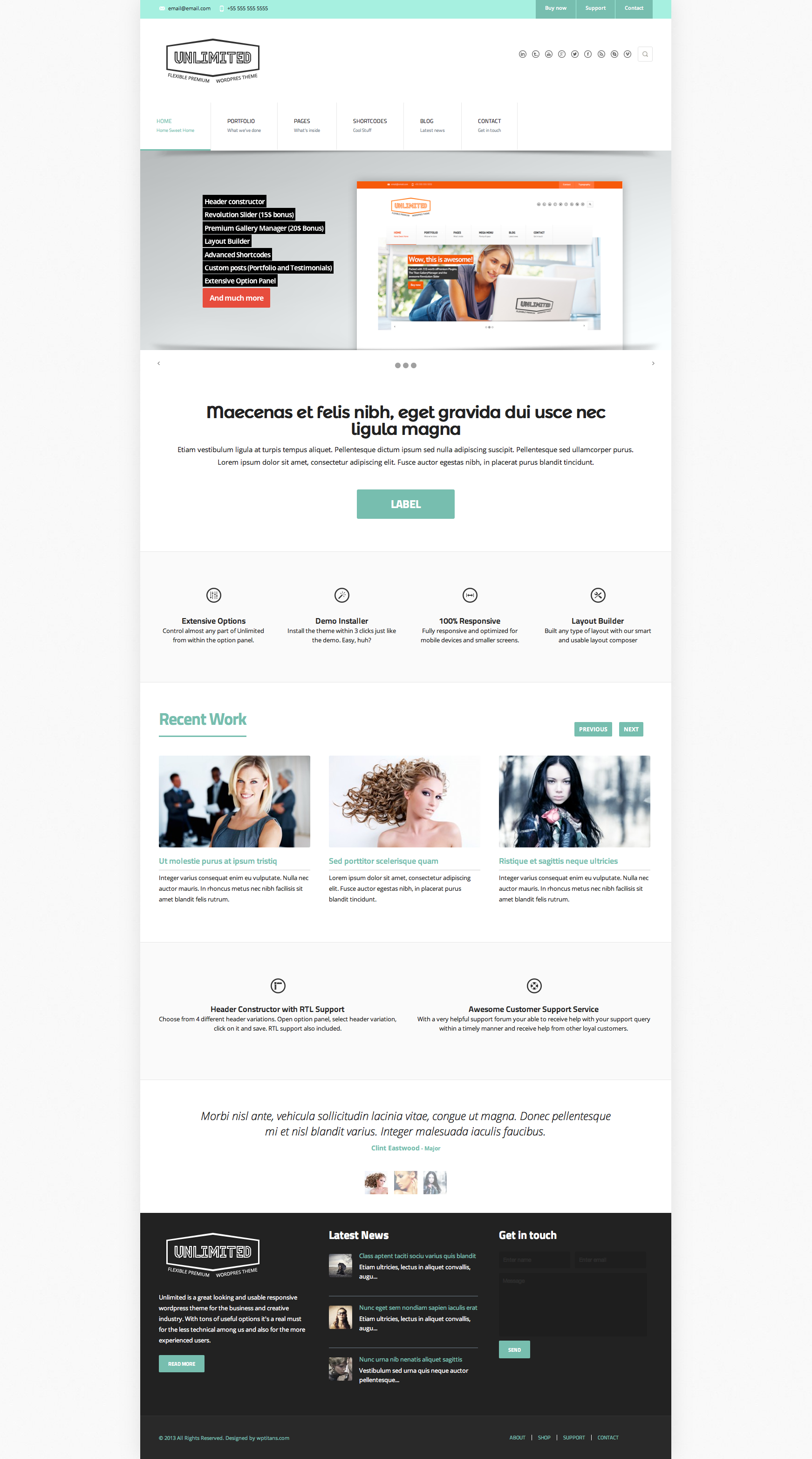 Unlimited - Flexible Responsive Business Theme