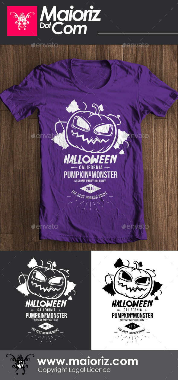 GraphicRiver Halloween Pumpkin Tshirt 8918856