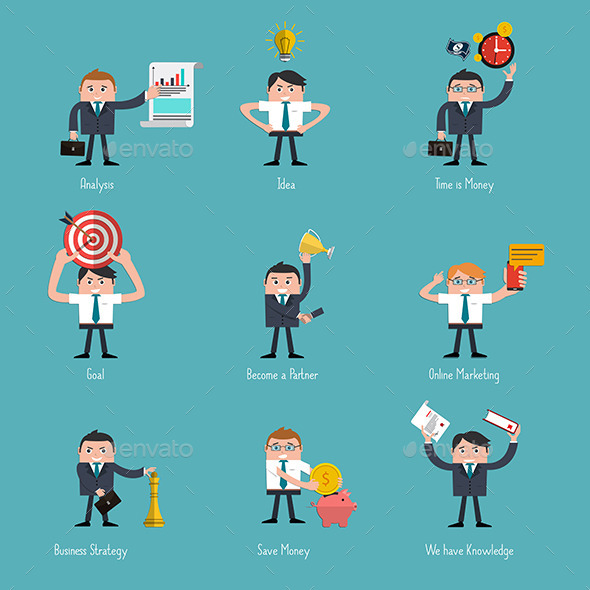GraphicRiver Set of Flat Style Icons 8918869