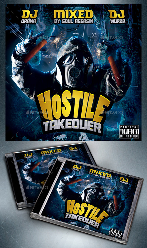 GraphicRiver Hostile Takeover Mixtape Flyer or CD Template 8907392