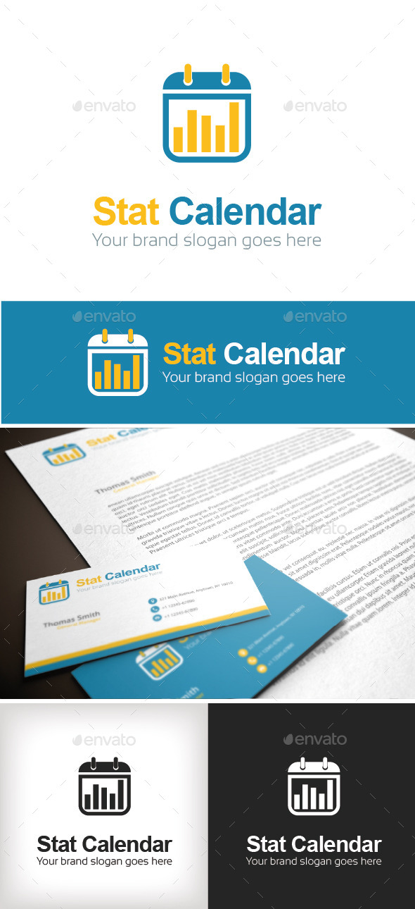 GraphicRiver Stat Calendar Logo Template 8918929