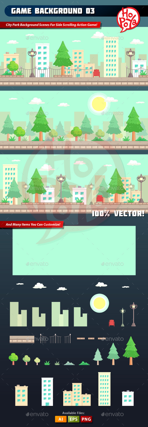 GraphicRiver Game Background 03 8918941