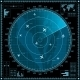 Blue Radar Screen with Planes - GraphicRiver Item for Sale