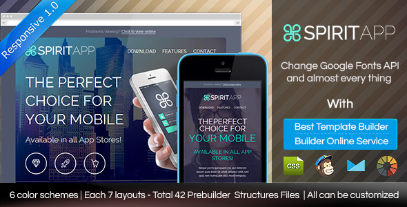ThemeForest SPIRITAPP Responsive Email Template With Builder 8919587