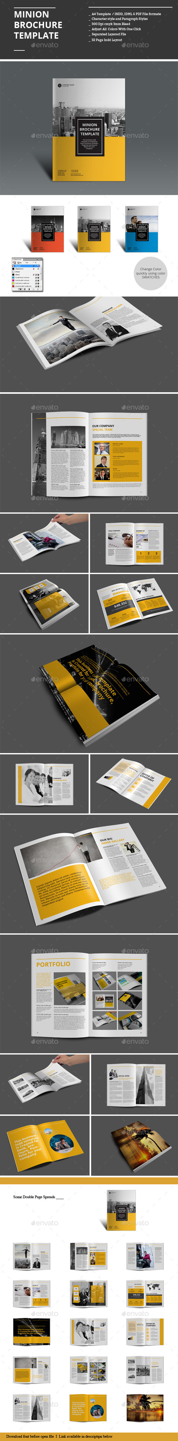GraphicRiver Minion Brochure Templates 8920907