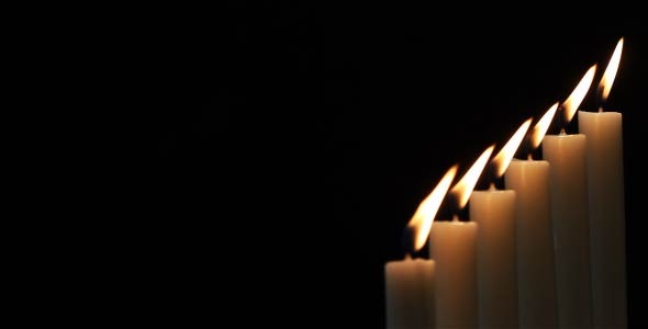 Candles On A Black Background 4