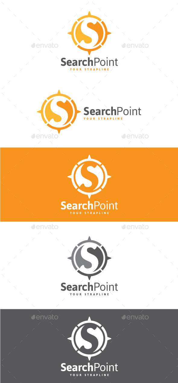 GraphicRiver Search Point Letter S Logo 8920929