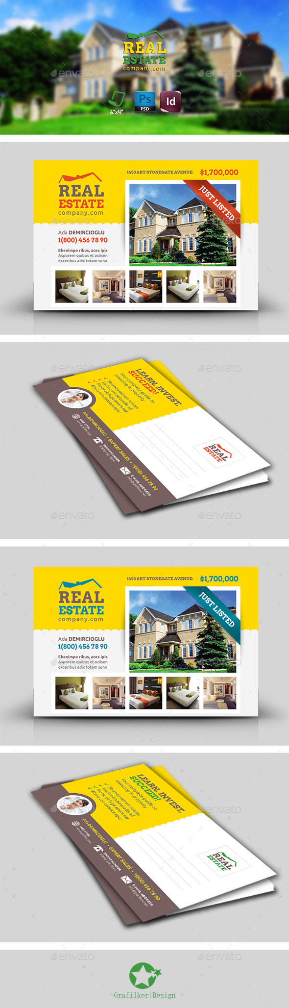 GraphicRiver Real Estate Postcard Templates 8921066