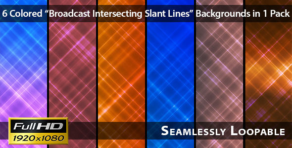 Broadcast Intersecting Slant Lines Pack 03