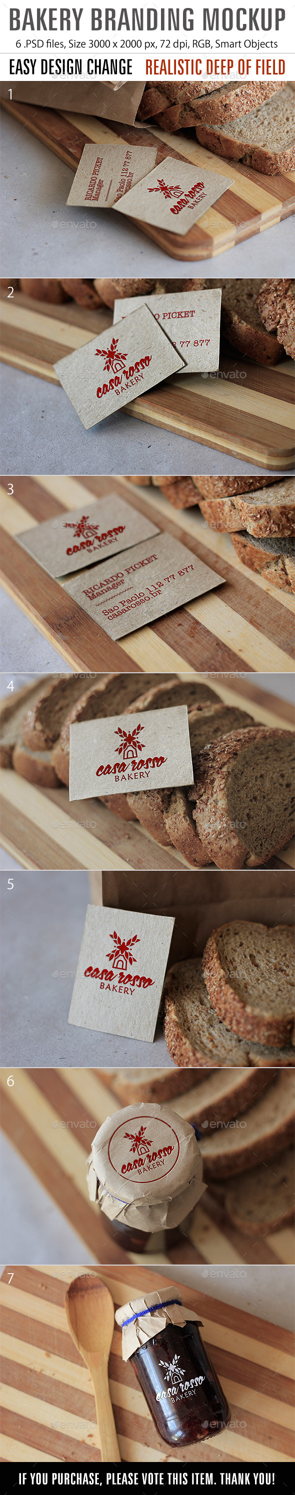 GraphicRiver Bakery Mockup 8921155