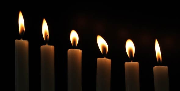 Candles On A Black Background 8