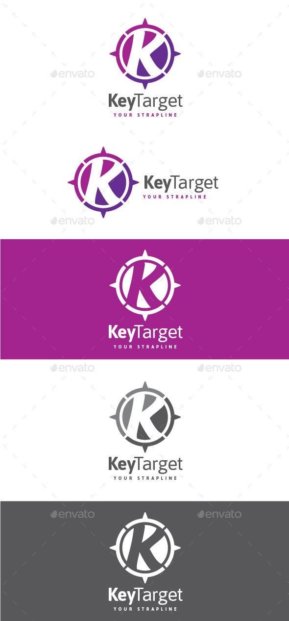 GraphicRiver Key Target Letter K Logo 8921270