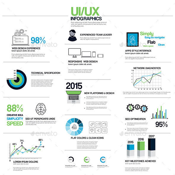 GraphicRiver Flat UI UX Infographic Elements 8921288