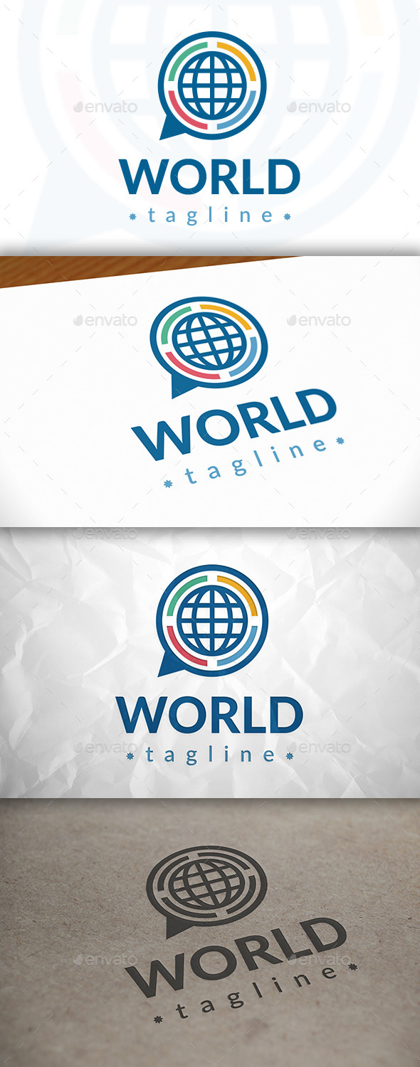 GraphicRiver Chat World Logo 8921293