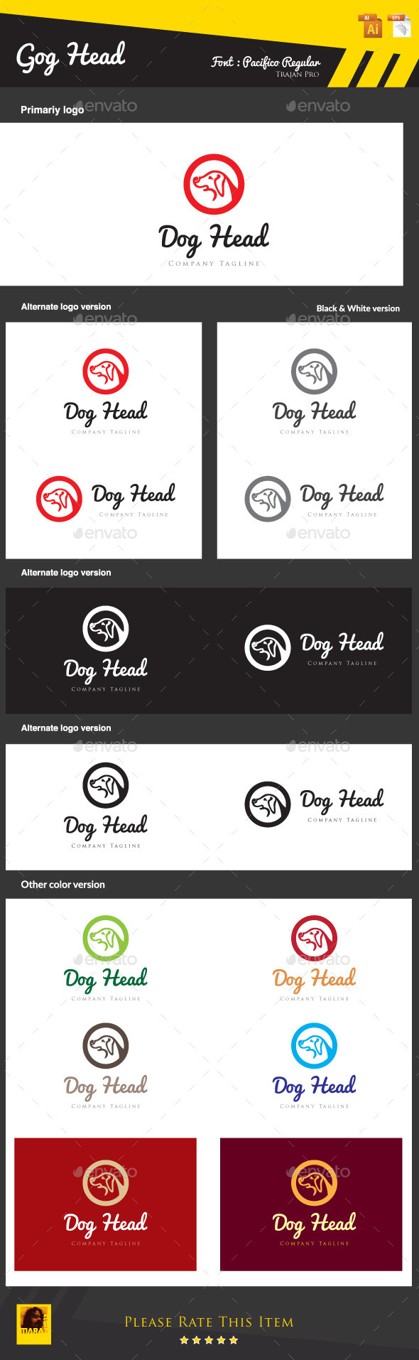 GraphicRiver Dog Head 8921368