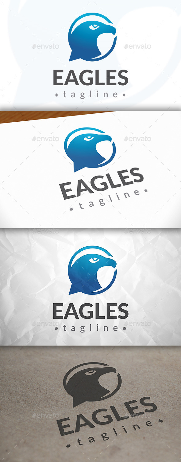 GraphicRiver Eagle Chat Logo 8921375