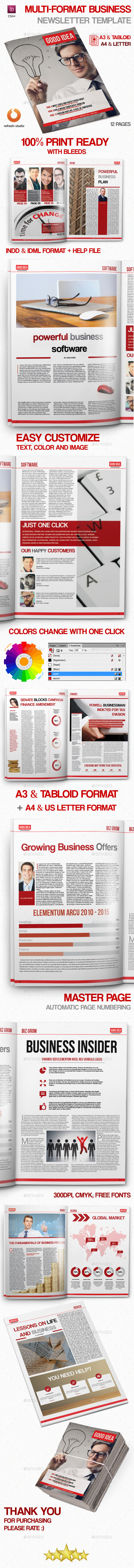 GraphicRiver Multi-format Business Newsletter Template 8914049