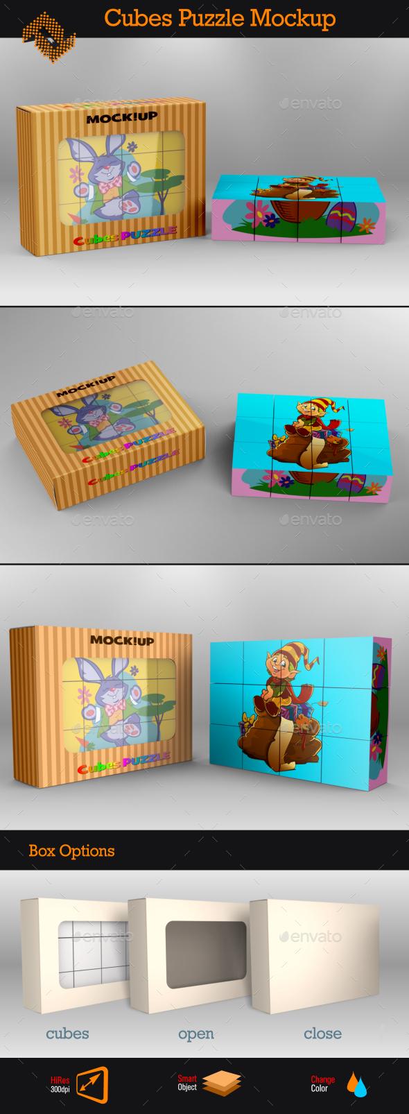 GraphicRiver Cubes Puzzle Mockup 8922041