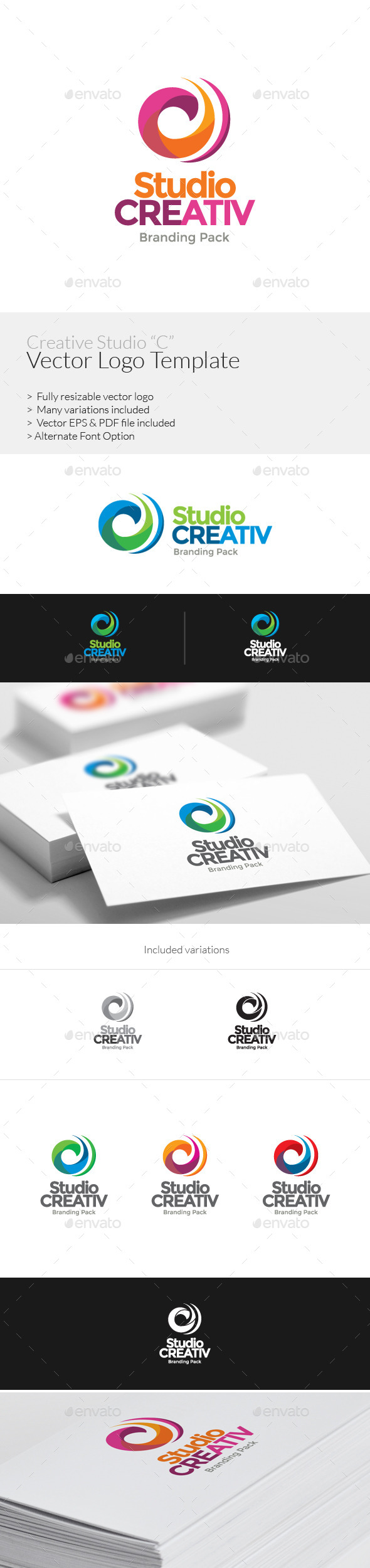 GraphicRiver Creative Studuio C Logo Template 8922201