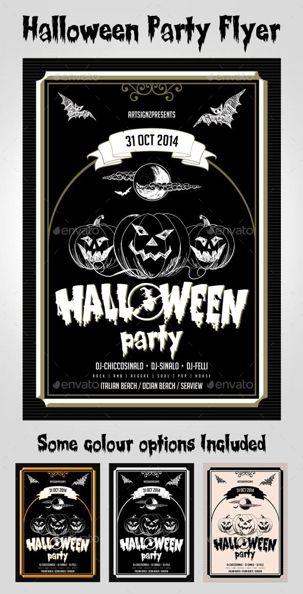 GraphicRiver Vantage Halloween Party Flyer 8922204
