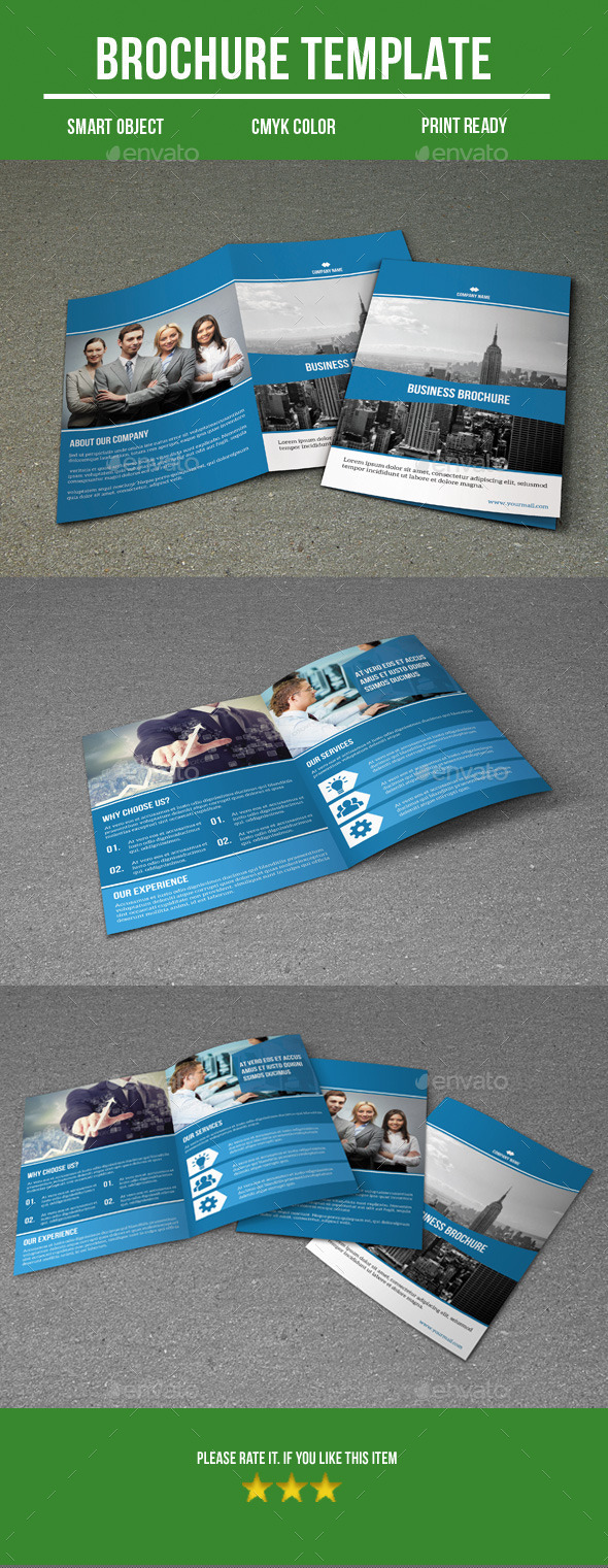 GraphicRiver Business bi fold brochure 8922485