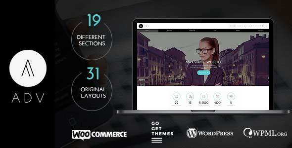 ThemeForest ADV Multipurpose One Page WordPress Theme 8773643