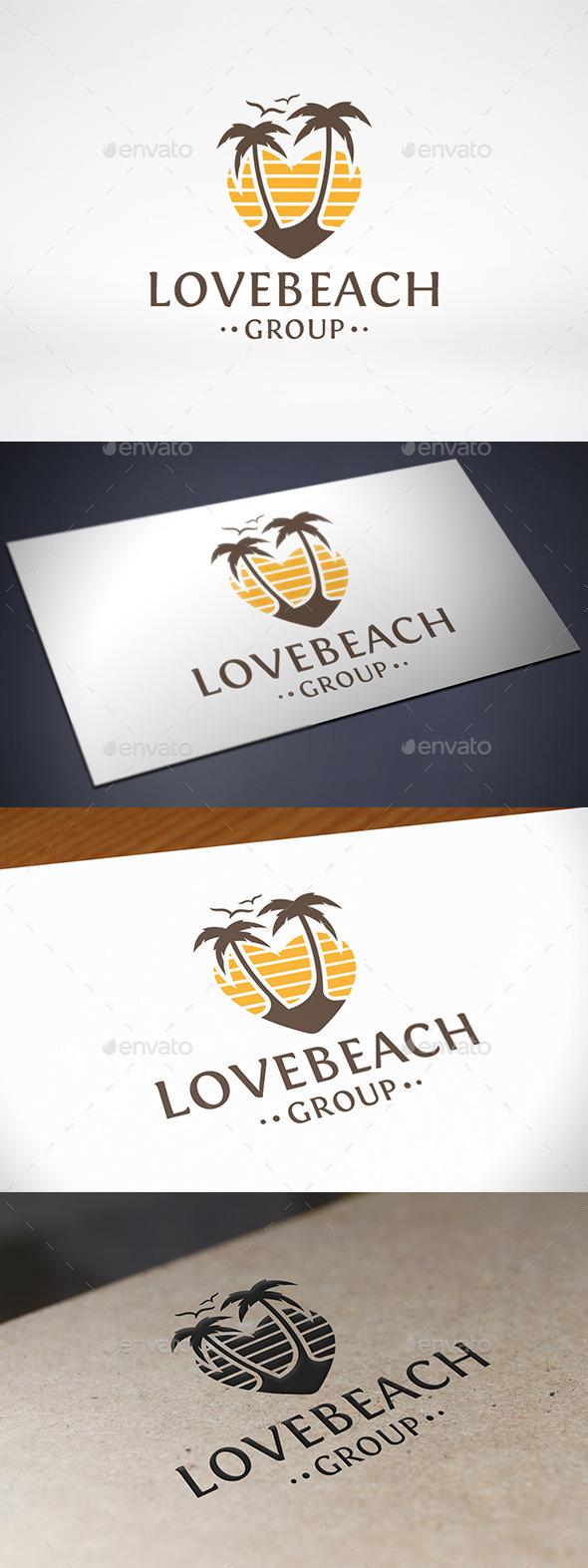 GraphicRiver Love Beach Logo Template 8922645