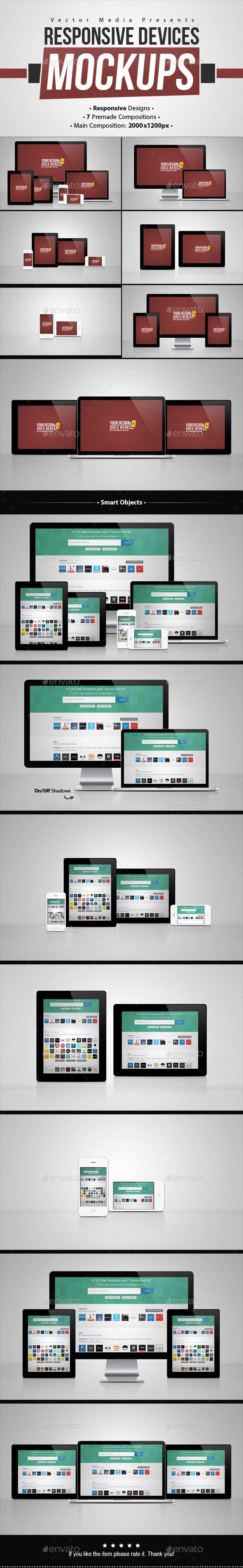 GraphicRiver Responsive Devices Mock-ups 8922730