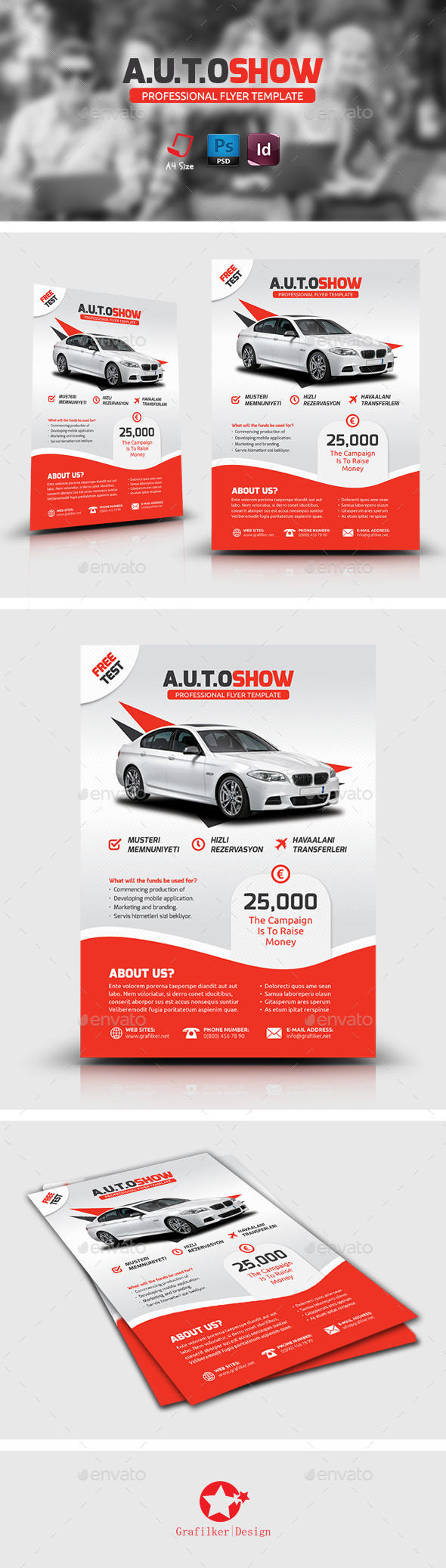 GraphicRiver Auto Showroom Flyer Templates 8884773