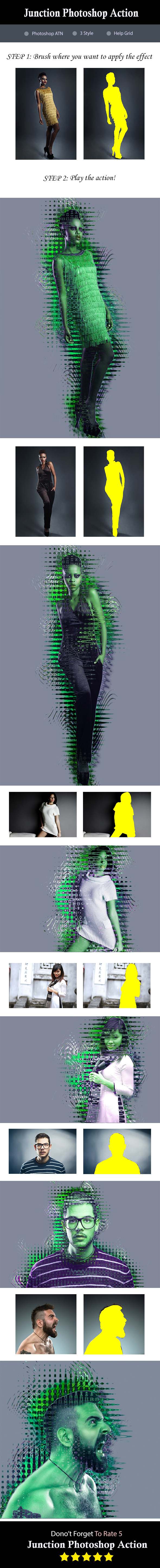 GraphicRiver Junction Photoshop Action 8922930