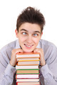 Funny Teenager with the Books - PhotoDune Item for Sale