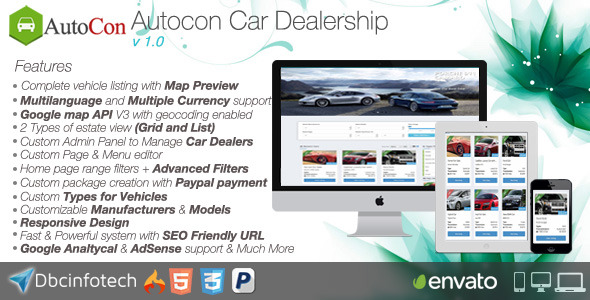 CodeCanyon Autocon Car Dealership 8923156