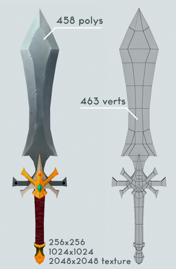 3DOcean Low Poly Sword 8923176
