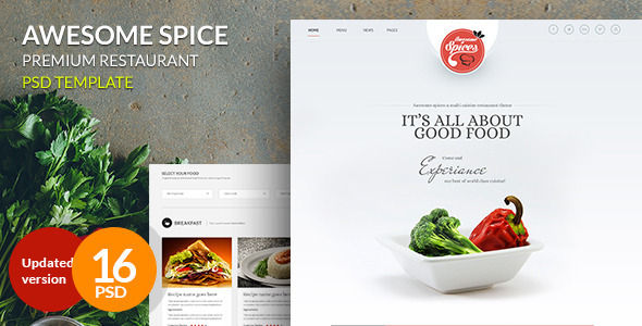 Awesome Spice-One Page Restaurant Theme - Food Retail