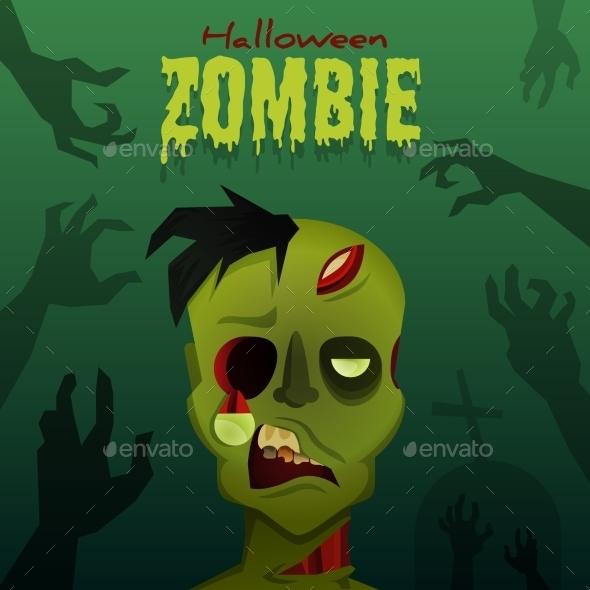 GraphicRiver Halloween Zombie 8923270