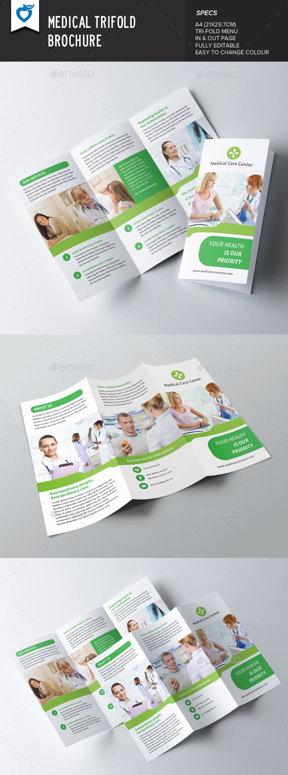 GraphicRiver Medical Trifold Brochure 8913028