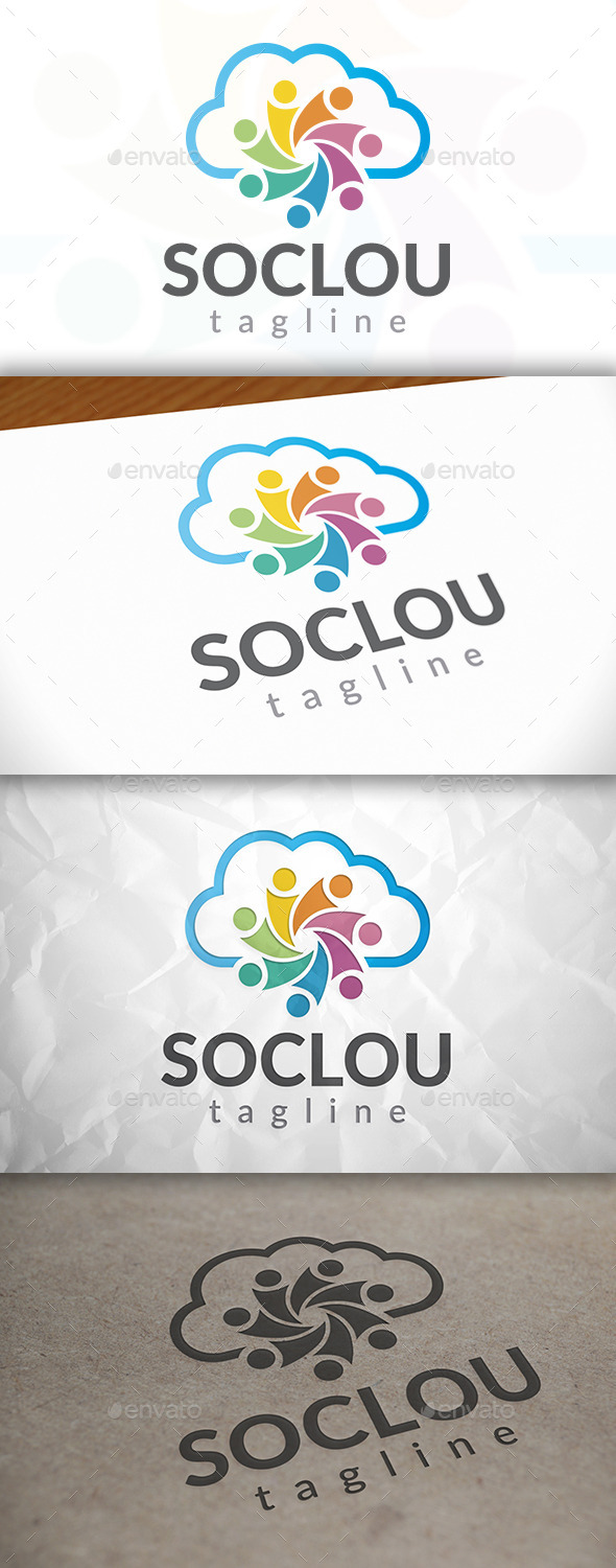 GraphicRiver Social Cloud Logo 8923460