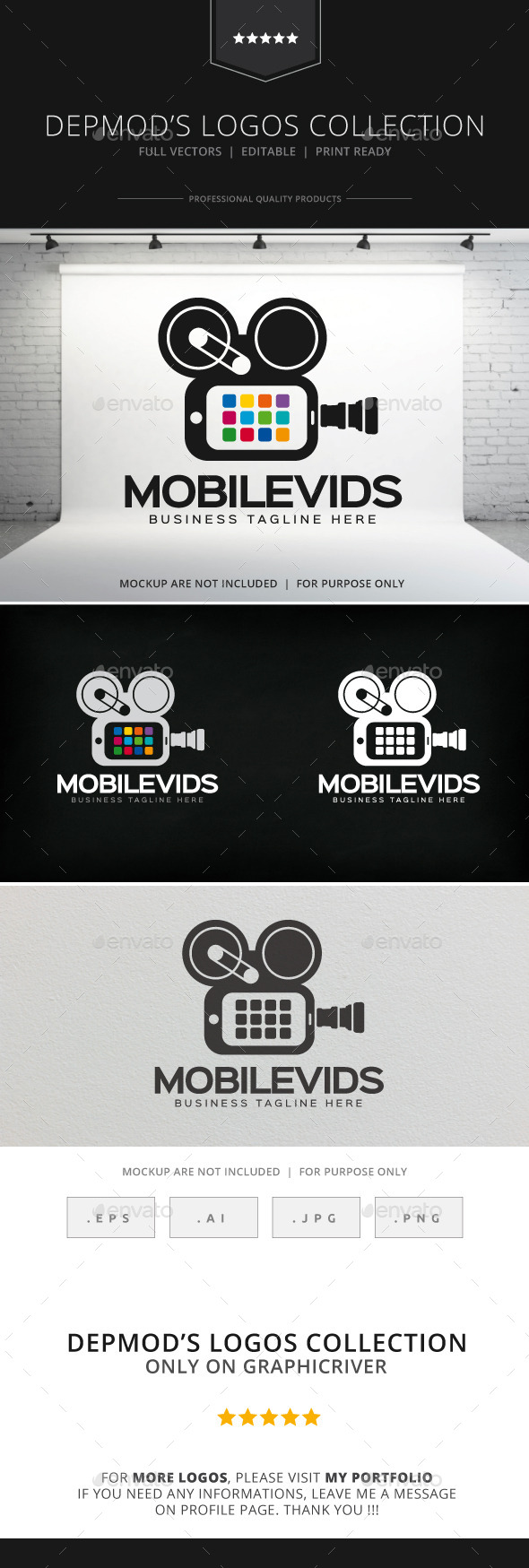 GraphicRiver Mobile Vids Logo 8923793