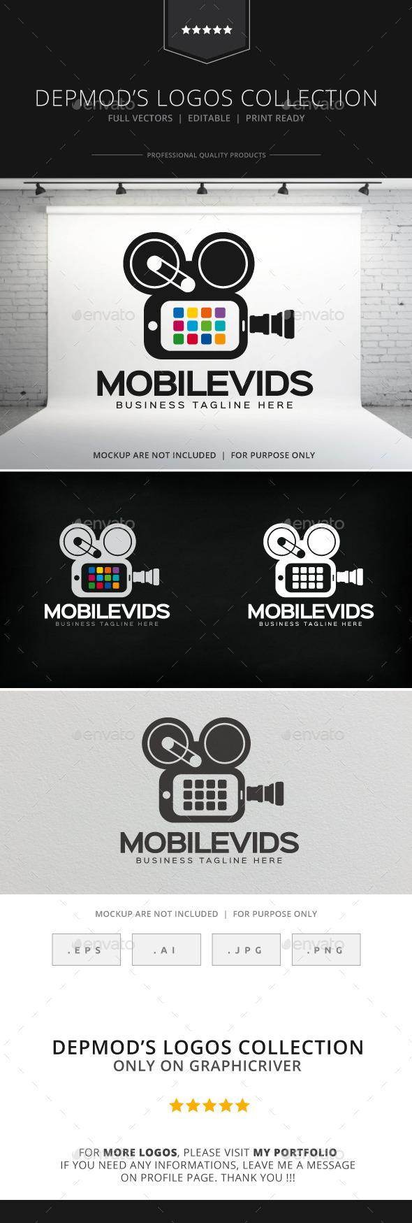 GraphicRiver Mobile Vids Logo 8923793