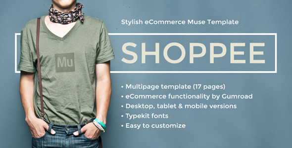ThemeForest Shoppee Stylish eCommerce Muse Template 8923820